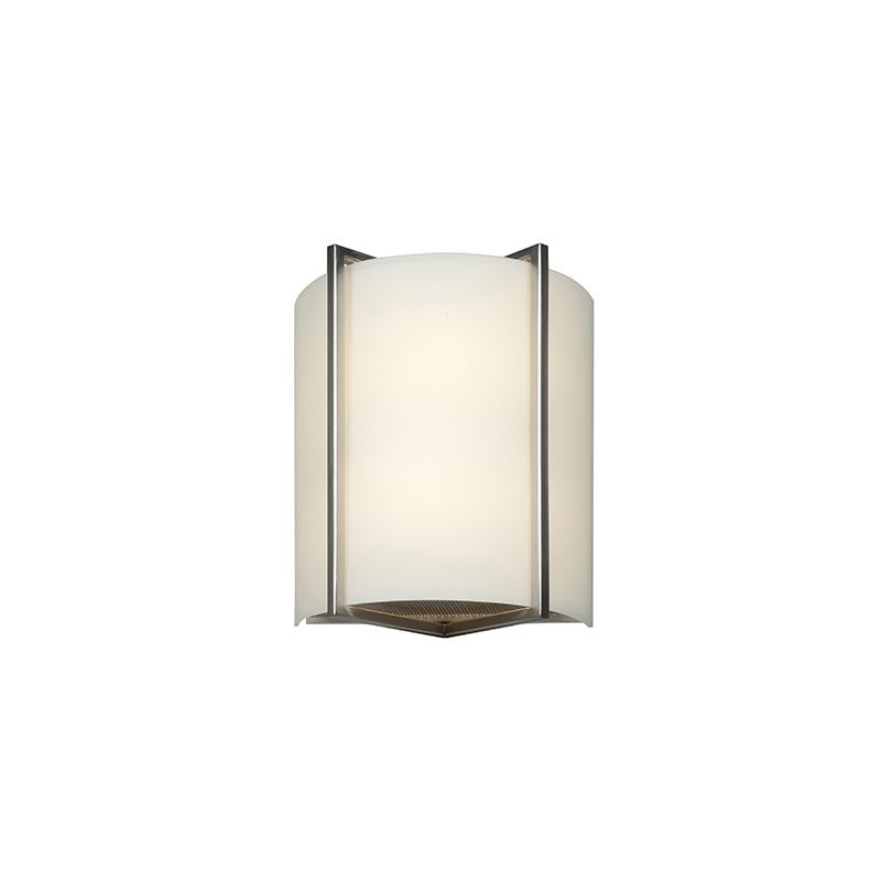 Access Lighting 20451 Vector 2 Light Wall Sconce Brushed Steel Indoor