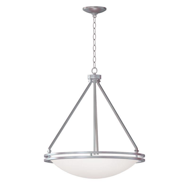 Access Lighting 20462GU-BS/WHT Steel Contemporary Aztec Pendant