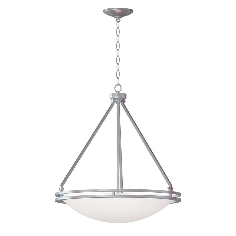 Access Lighting 20463GU-BS/WHT Steel Contemporary Aztec Pendant
