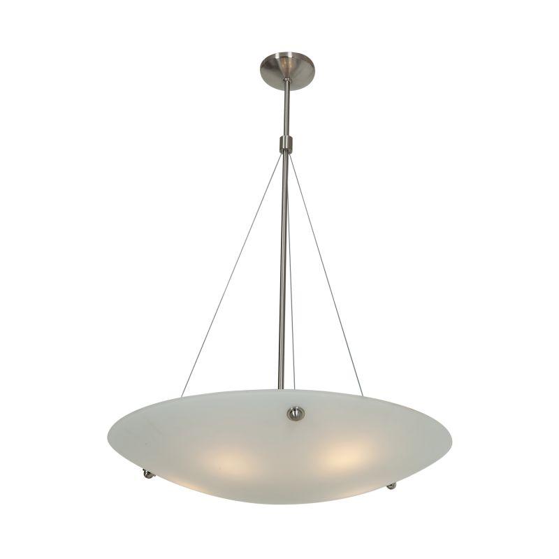 Access Lighting 23074 Noya 5 Light Bowl Shaped Pendant Brushed Steel /