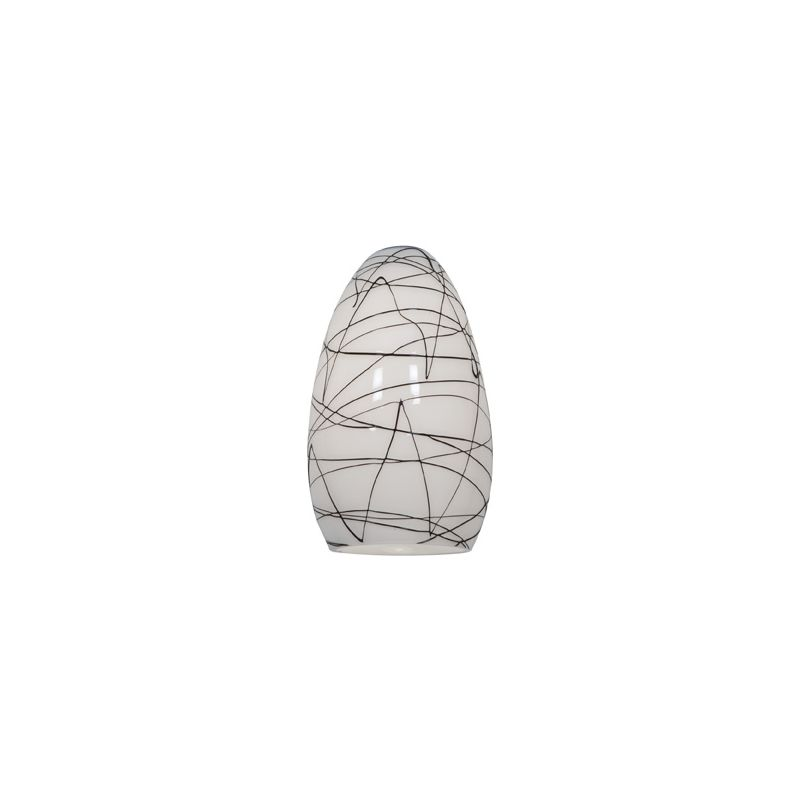 Access Lighting 23112 Inari Silk Glass Shade Black White Accessory