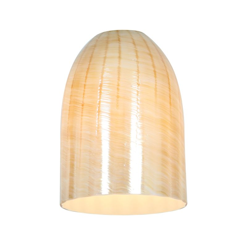 Access Lighting 23118 Inari Silk Glass Shade Wicker Amber Accessory