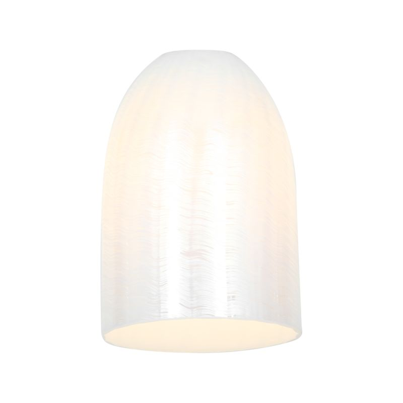 Access Lighting 23118 Inari Silk Glass Shade Wicker White Accessory