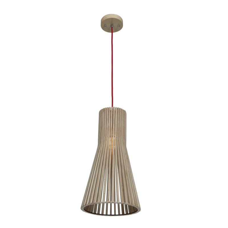 Access Lighting 23774 Kobu 1 Light Mini Pendant Natural Wood Indoor