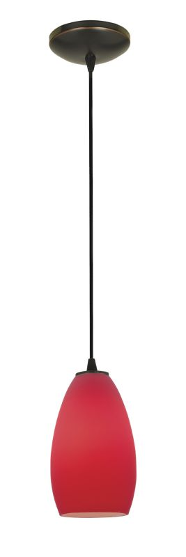 Access Lighting 28012-2C-ORB/RED Bronze Contemporary Tali Pendant