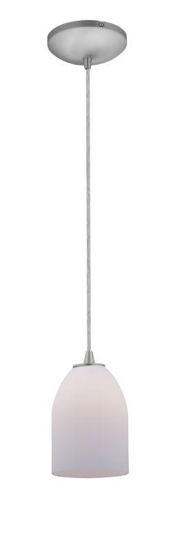 Access Lighting 28018-1C-BS/OPL Steel Contemporary Sydney Pendant