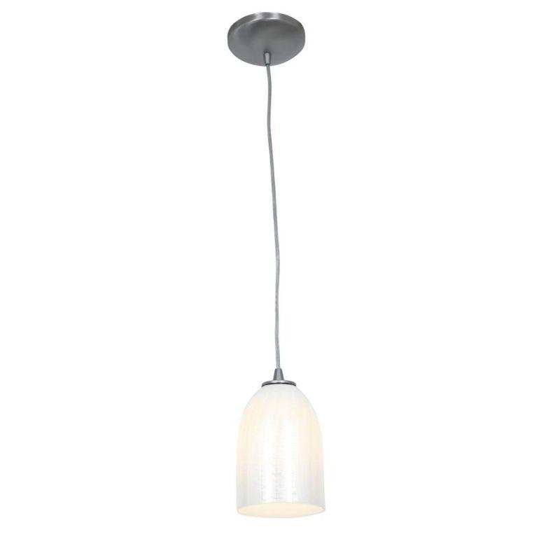 Access Lighting 28018-1R-BS/WWHT Steel Contemporary Janine Pendant