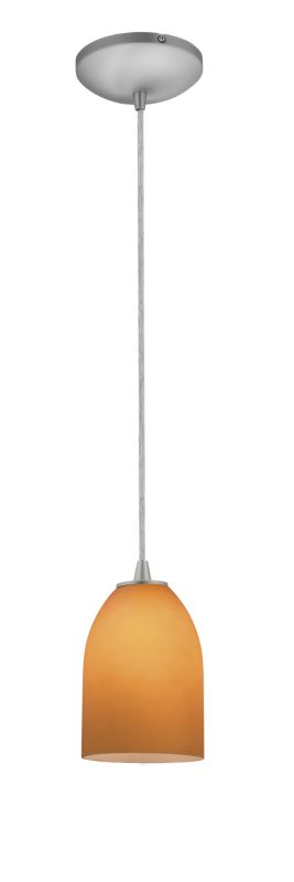 Access Lighting 28018-2C-BS/AMB Steel Contemporary Tali Pendant