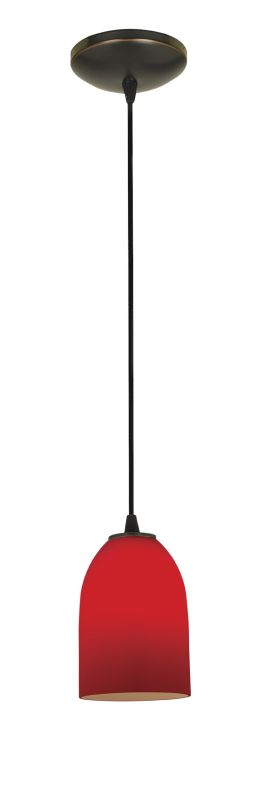 Access Lighting 28018-2C-ORB/RED Bronze Contemporary Tali Pendant