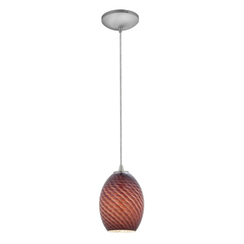 Access Lighting 28023-1C-BS/PLMFB Steel Contemporary Sydney Pendant Sale $76.80 ITEM: bci2255470 ID#:28023-1C-BS/PLMFB UPC: 641594172126 :