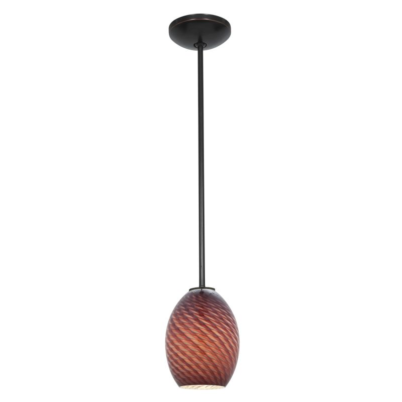 Access Lighting 28023-1R Janine 1 Light Mini Pendant Oil Rubbed Bronze