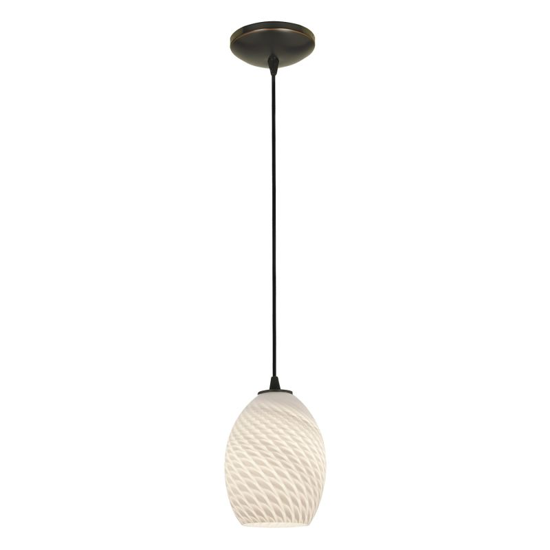 Access Lighting 28023-2C-ORB/WHTFB Bronze Contemporary Tali Pendant