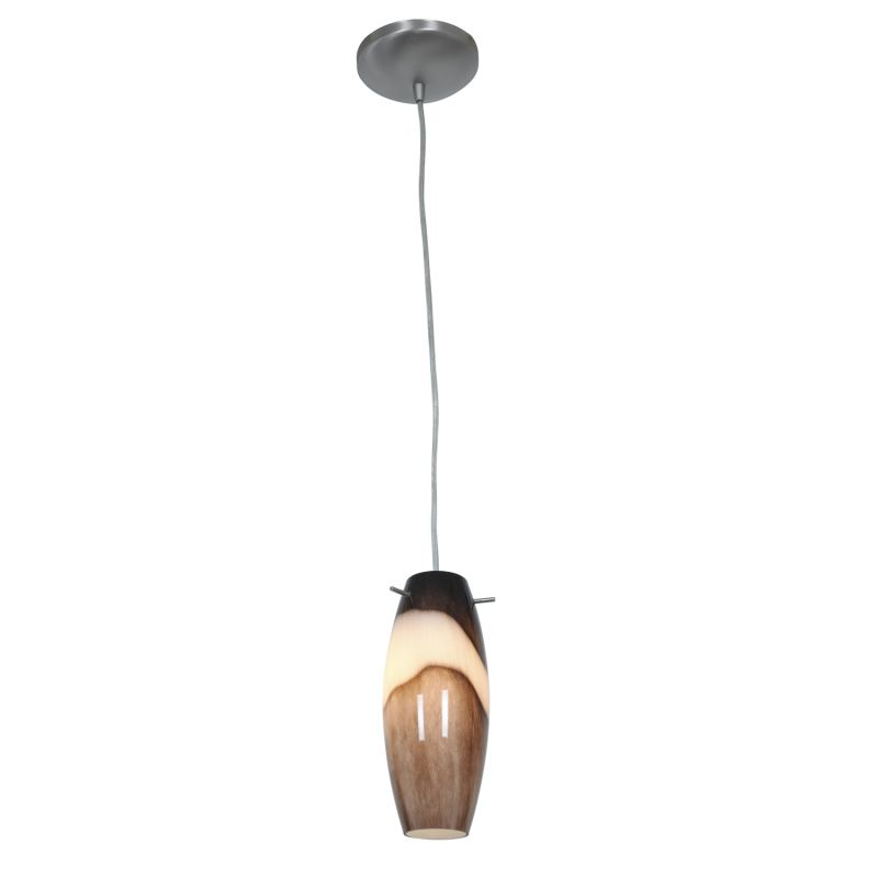 Access Lighting 28024-1C-BS/BRS Brushed Steel Contemporary Pendant