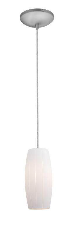 Access Lighting 28070-1C-BS/WHT Steel Contemporary Sydney Pendant