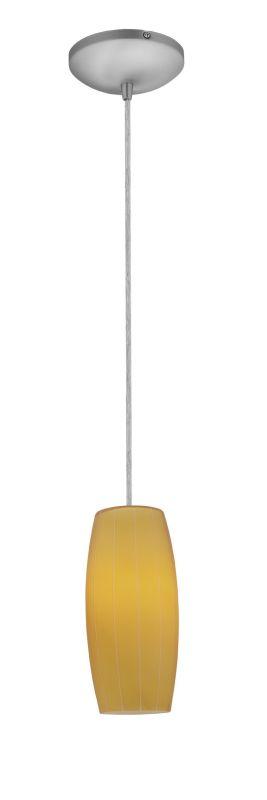 Access Lighting 28070-2C-BS/AMB Steel Contemporary Tali Pendant