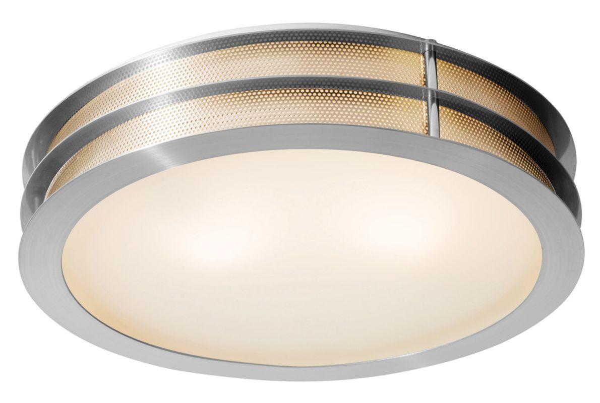 Access Lighting 50131 Iron 2 Light Flush Mount Ceiling Fixture Brushed