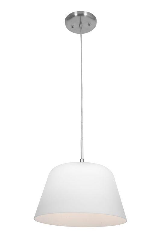 Access Lighting 50170 Aire 1 Light Pendant Brushed Steel / Opal Indoor