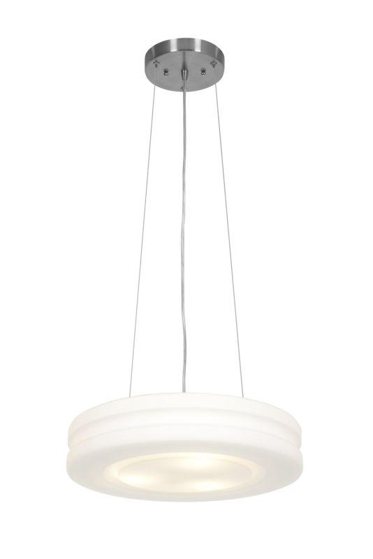Access Lighting 50190 Altum 3 Light Pendant Brushed Steel / Opal