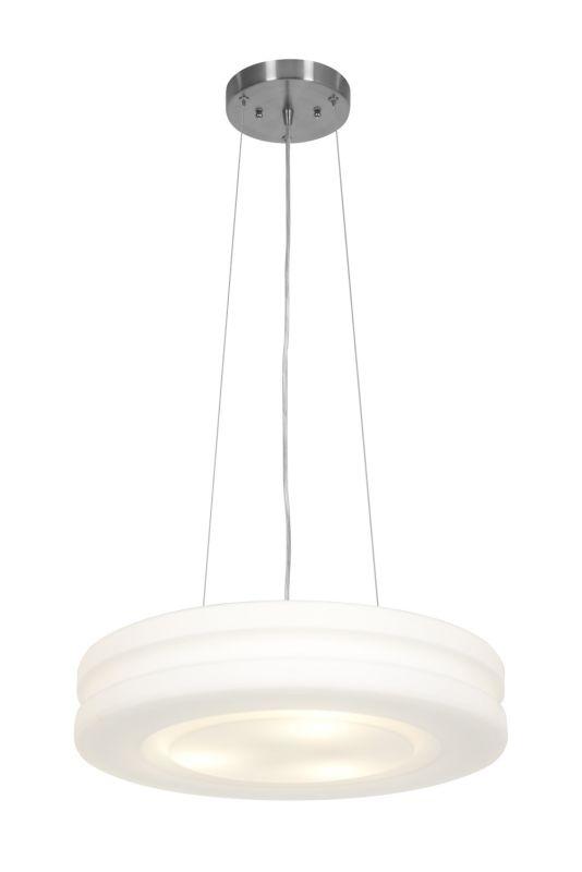 Access Lighting 50191 Altum 3 Light Pendant Brushed Steel / Opal