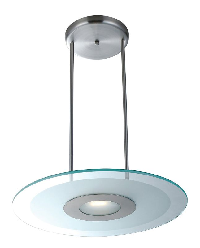 Access Lighting 50484 Helius 1 Light Pendant Brushed Steel / Frosted Sale $192.00 ITEM: bci2255786 ID#:50484-BS/CFR UPC: 641594103700 :