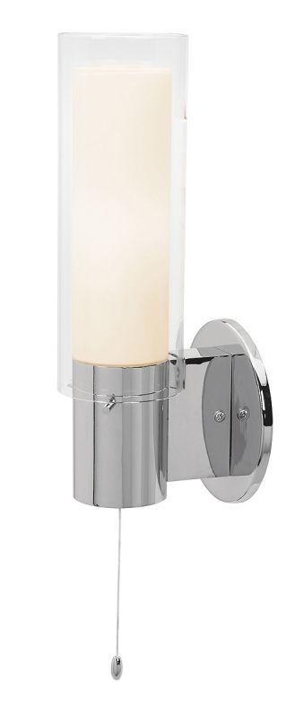 Tiffany Wall Light Pull Switch : Access Lighting 50561-CH/CLOP Chrome / Clear Opal Proteus 1 Light Wall Sconce - LightingDirect.com
