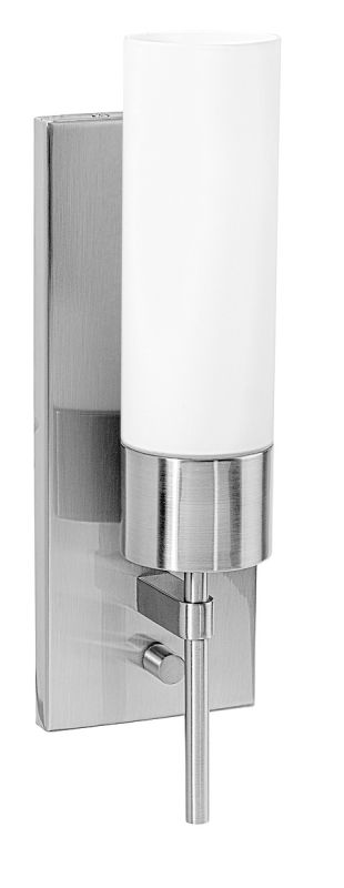 Access Lighting 50562 Iron 1 Light Wall Sconce Brushed Steel / Opal