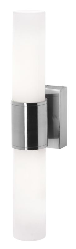 Access Lighting 50567 Aqueous 2 Light Wall Sconce Brushed Steel / Opal