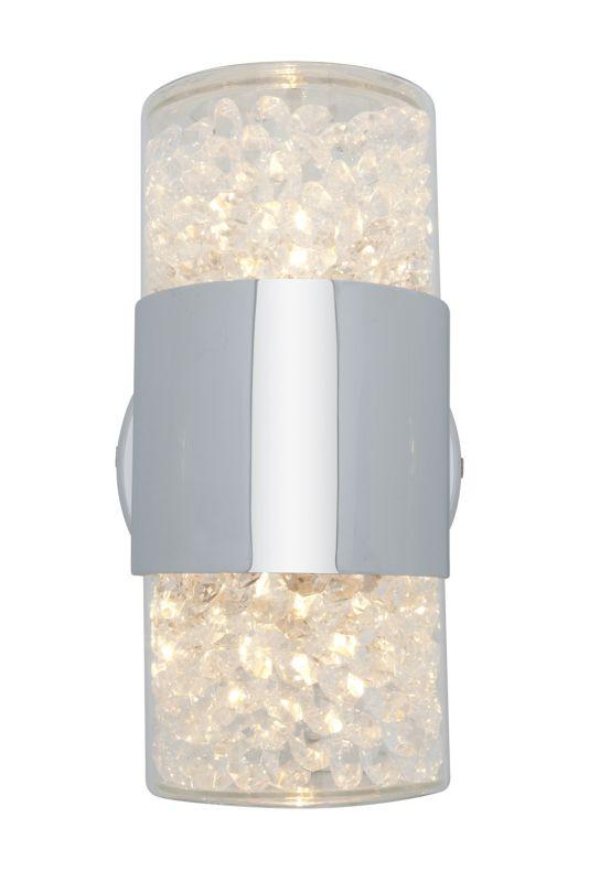 Access Lighting 51015 Kristal 2 Light Bathroom Sconce Chrome / Clear