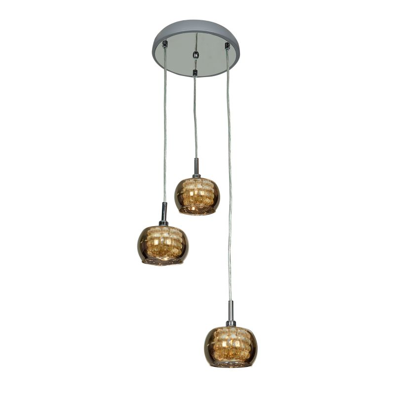 """Access Lighting 52117 3 Light 10"""" Wide Mini Pendant from the Glam"""