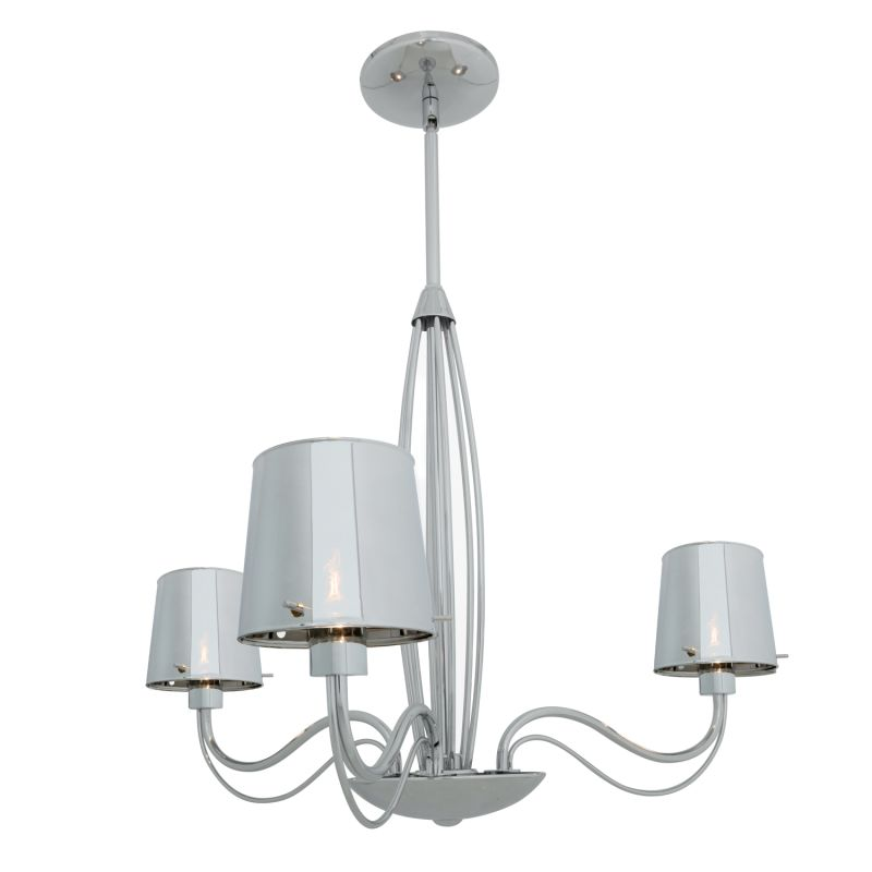Access Lighting 55532 Milano 3 Light Chandelier Chrome / Chrome Indoor