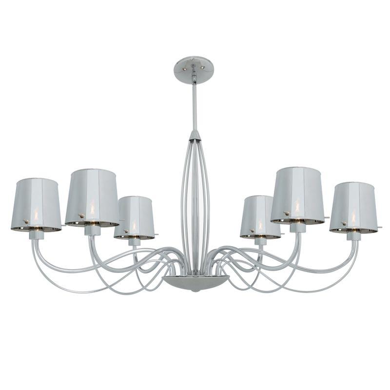 Access Lighting 55533 Milano 6 Light Chandelier Chrome / Chrome Indoor