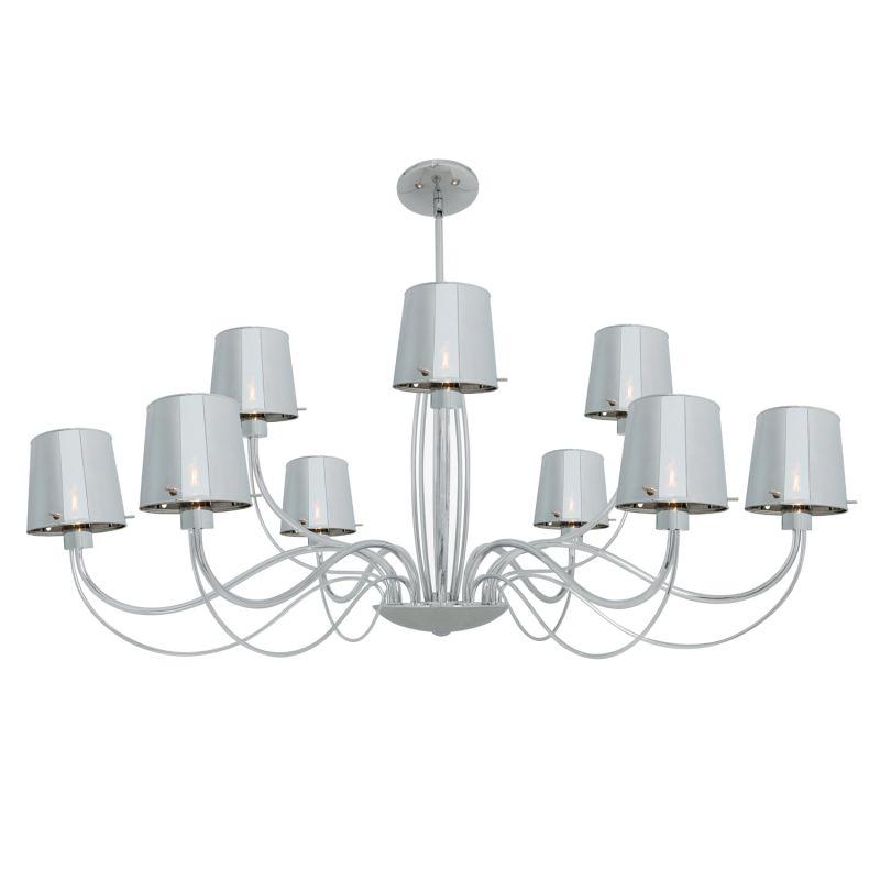 Access Lighting 55534 Milano 9 Light Chandelier Chrome / Chrome Indoor