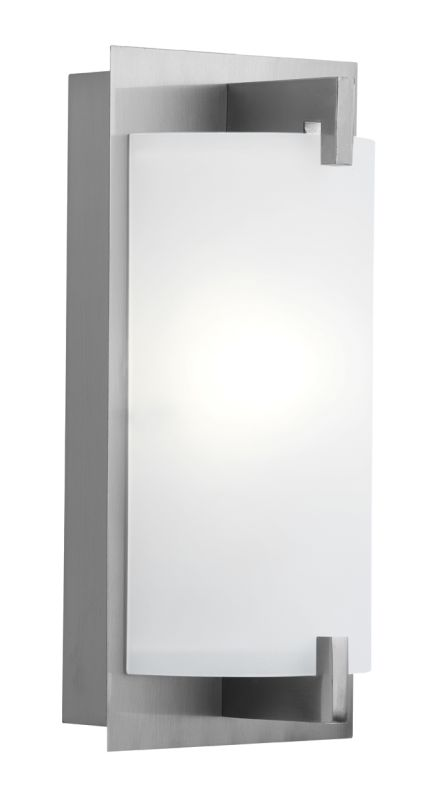 Access Lighting 62236 Bo 1 Light Bathroom Sconce Brushed Steel / Opal