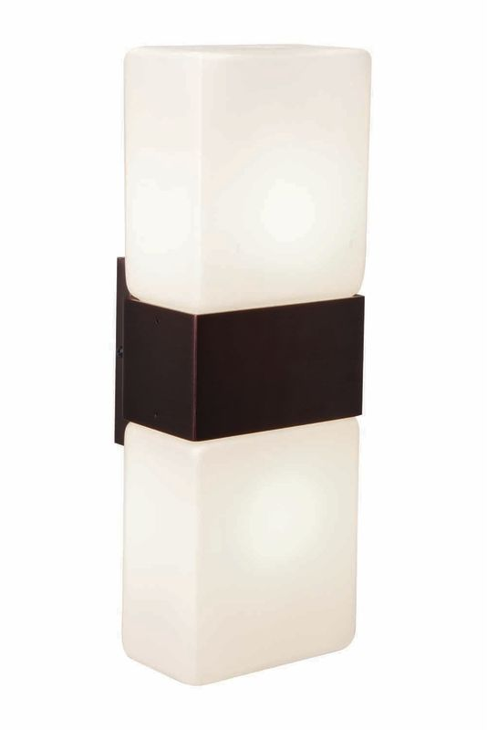 Access Lighting 62242 Nitros 2 Light Bathroom Sconce Bronze / Opal