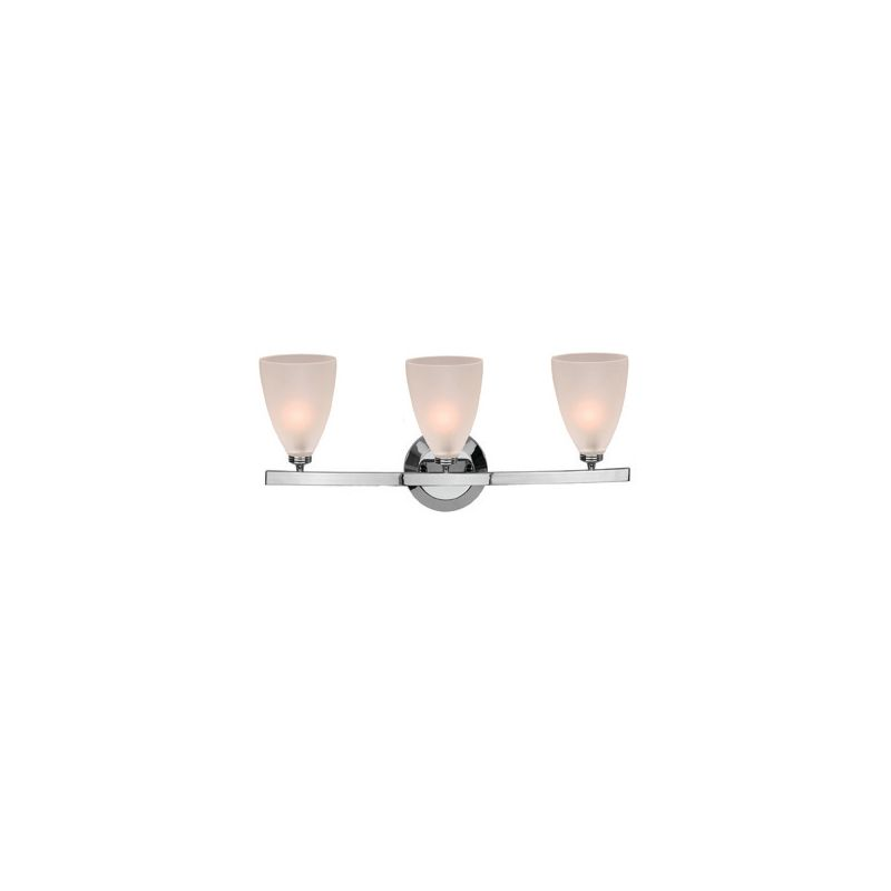 Access Lighting 63813-19 Sydney 3 Light Vanity Chrome / Frosted Indoor