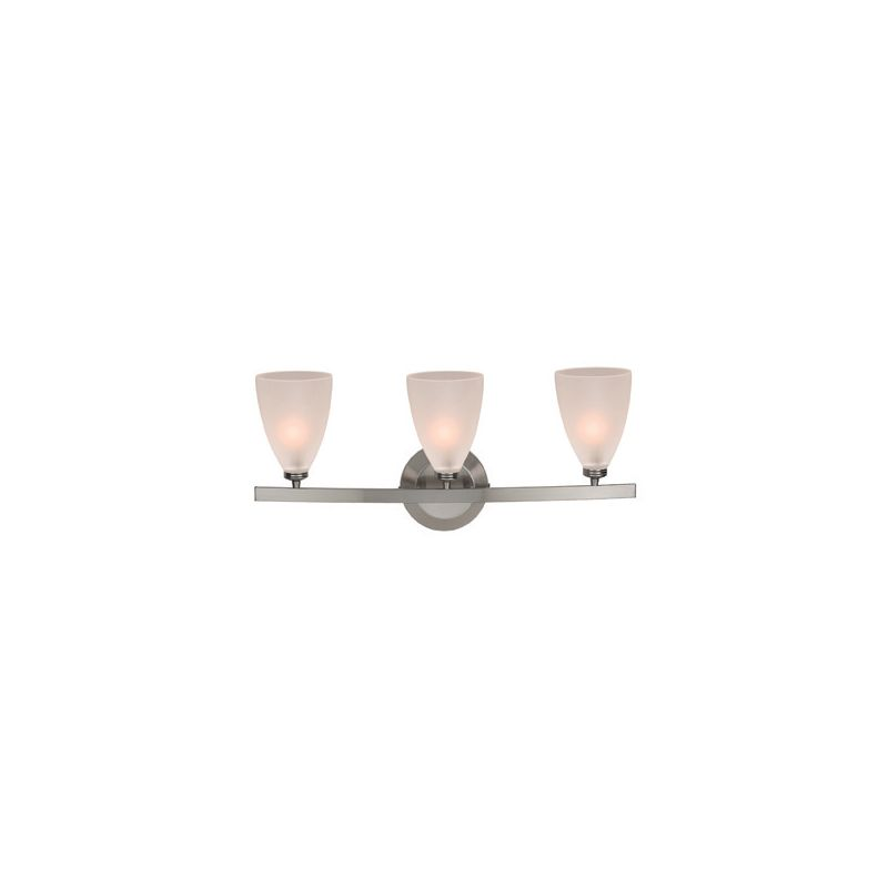 Access Lighting 63813-19 Sydney 3 Light Vanity Matte Chrome / Frosted