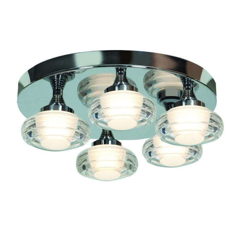"""Access Lighting 63979LED 5 Light 15.8"""" Wide LED Flush Mount Ceiling"""