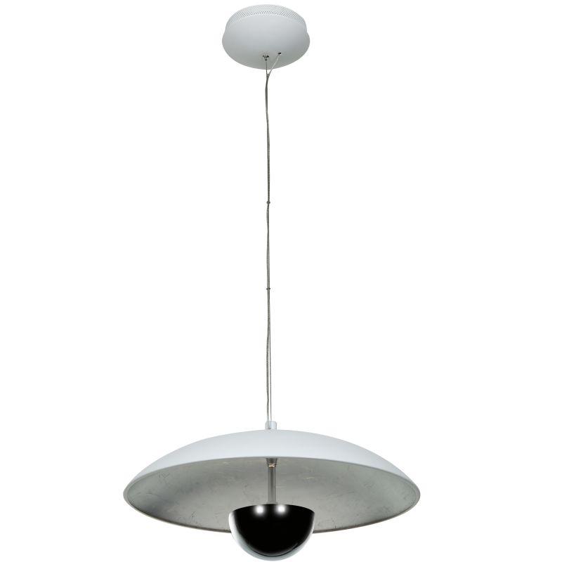 Access Lighting 70073LED Pulsar 1 Light Bowl Shaped LED Pendant White