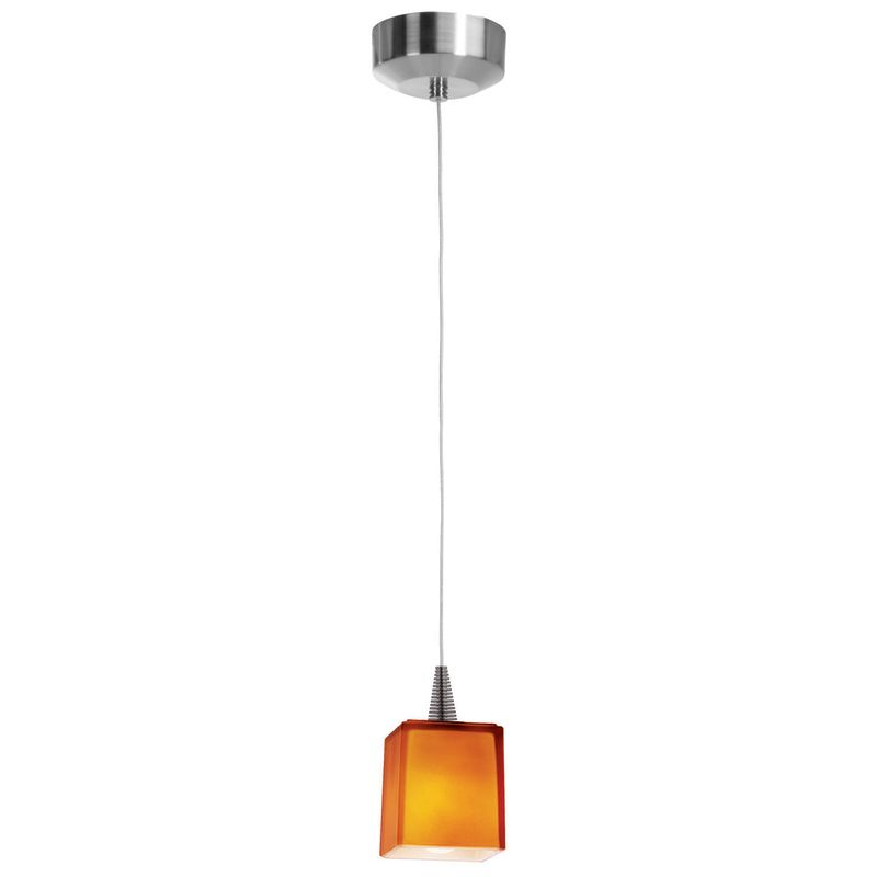 Access Lighting 94918-BS/AMB Brushed Steel Contemporary Zeta Pendant