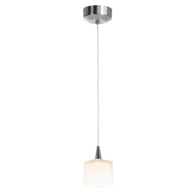 Access Lighting 94918-BS/OPL Brushed Steel Contemporary Zeta Pendant