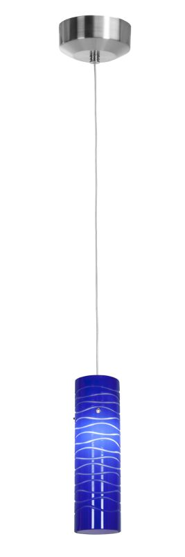 Access Lighting 94932-BS/BLULN Steel Contemporary Zeta Pendant