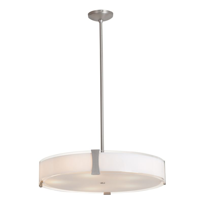 Access Lighting C50124-CFL Tara 4 Light Large Pendant Brushed Steel /