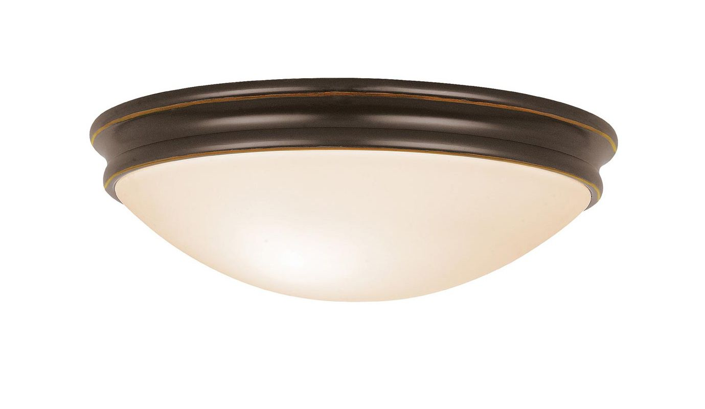 Access Lighting 20725 Atom 2 Light Flush Mount Ceiling Fixture Oil