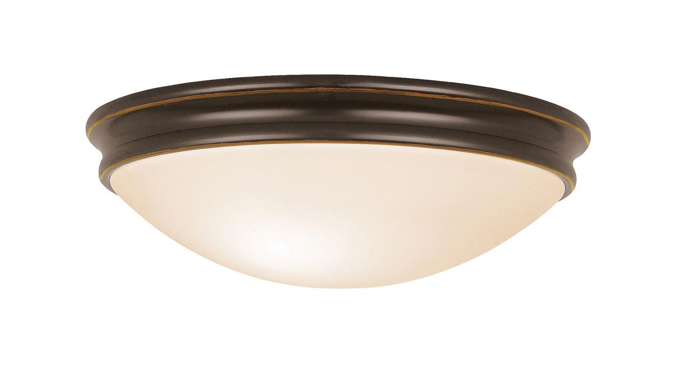 Access Lighting 20726 Atom 3 Light Flush Mount Ceiling Fixture Oil