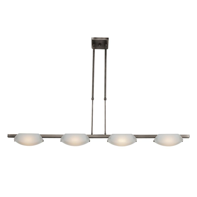 "Access Lighting 63958 Nido 4 Light 43"" Wide Chandelier with Frosted"