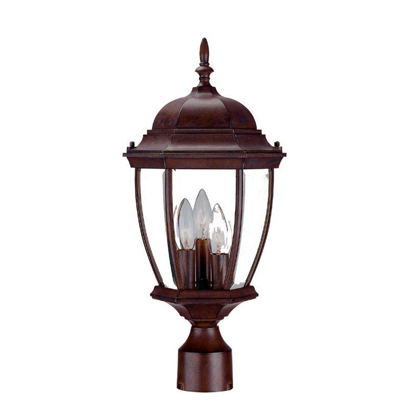 "Acclaim Lighting 5017 Wexford 3 Light 20"" Height Post Light Burled"