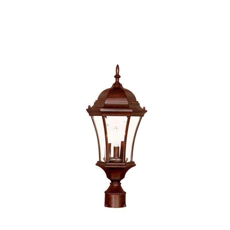 "Acclaim Lighting 5027 Bryn Mawr 3 Light 21"" Height Post Light Burled"