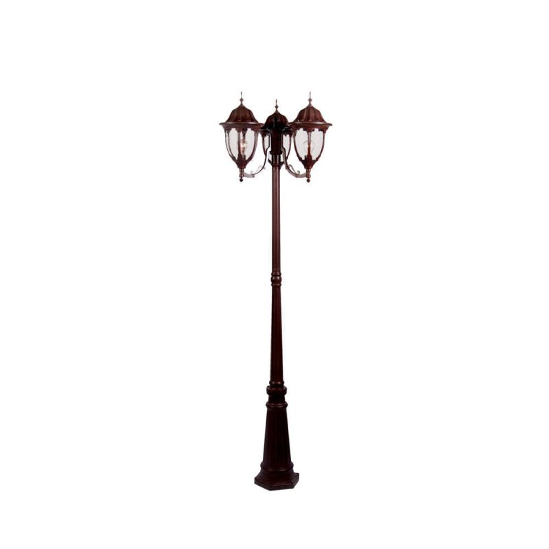 "Acclaim Lighting 5069 Suffolk 3 Light 82.5"" Height Post Light with"