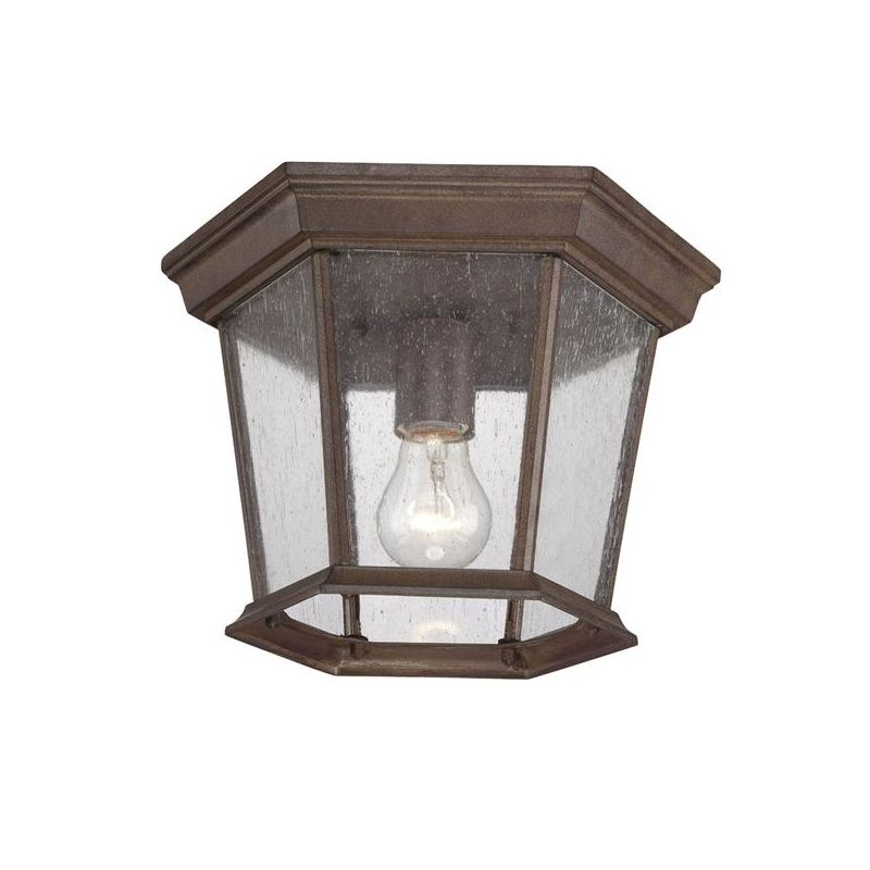 Acclaim Lighting 5275BW SD Burled Walnut Dover 1 Light Outdoor Flush Mount Ce
