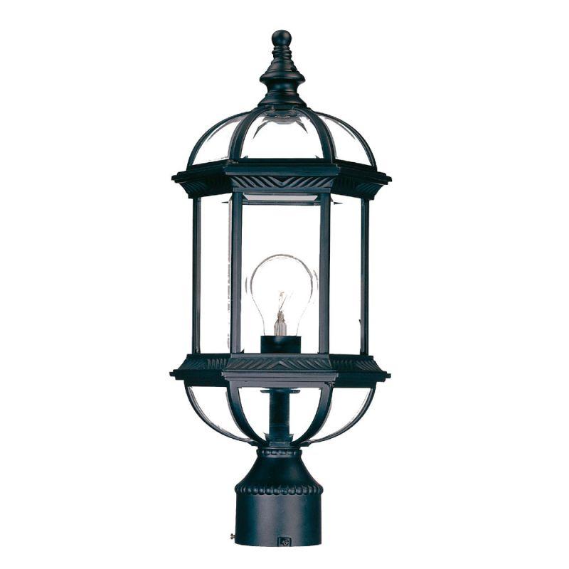 """Acclaim Lighting 5277 Dover 1 Light 19"""" Height Post Light Matte Black"""